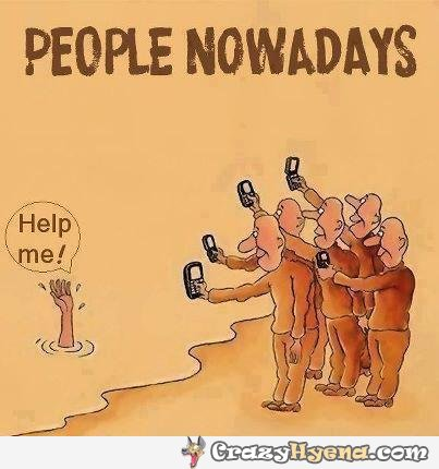 people-nowadays-drowning-man-taking-photos