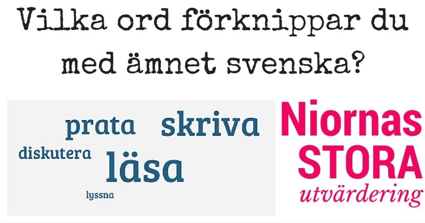 Vilka ord förknippar du med ämnet svenska-