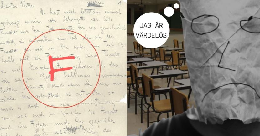 Betyg, bedömning, hets, press, stress, godkänd - om en skola där eleven mår allt sämre. Av Fredrik Sandström