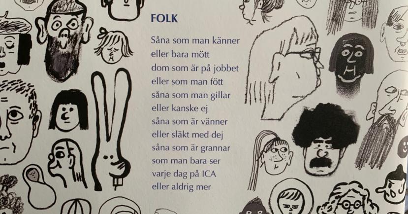 Folk Emma och Lisen Adbåge