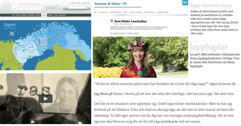 När undervisningen växer fram - Ett miniprojekt om samernas historia - Sapmi och lappväsendet