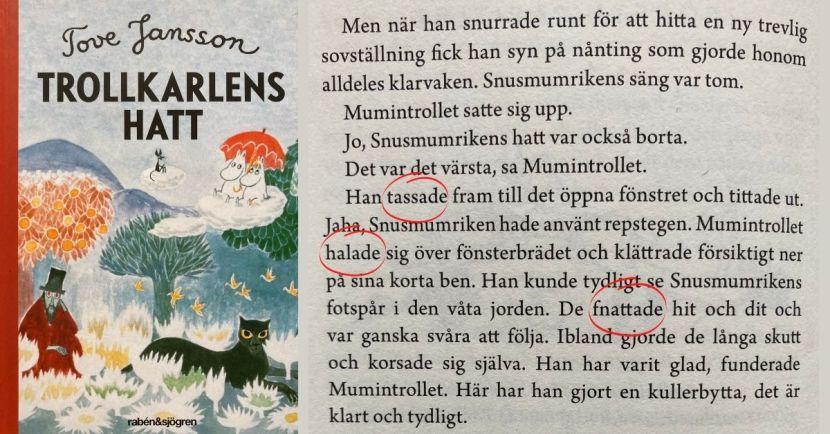 Att härma författarens språk - Tove Jansson Trollkarlens hatt